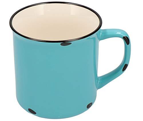 Tony Brown Hartwaren Kaffeebecher klein 300 ml in Emaille-Optik (1er, Hellblau)