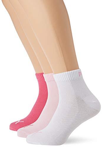 PUMA Plain 3P Quarter Socke, Pink Lady, 39-42