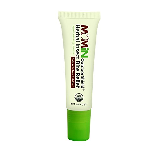 MOMiN USDA Organic Herbal Mosquito Insect Bite Relief, All Natural Essential Oil, Roller Ball Head Design, Easy to Use and Carry, 0.4 Oz