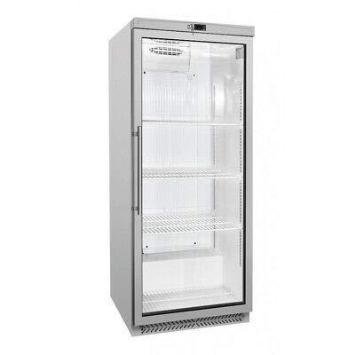 Flaschenkühlschrank - Getränkekühlschrank - Kühlschrank - 600 Liter - 1 Glastür - silber -