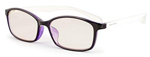 ESCHENBACH 遠近両用 老眼鏡 ブルーライトカット PCビュアー パープルホワイト +3.0度 2993-1330