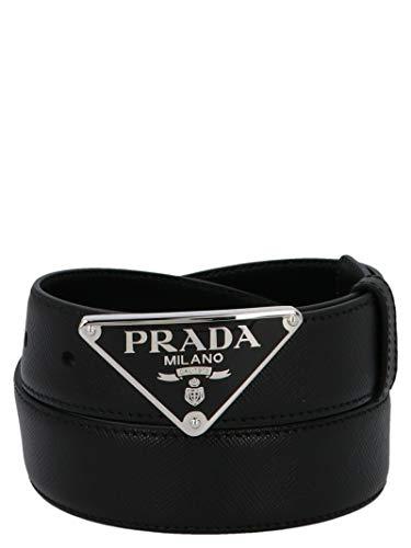 Luxury Fashion | Prada Heren 2CM217053F0002 Zwart Leer Riemen | Lente-zomer 20
