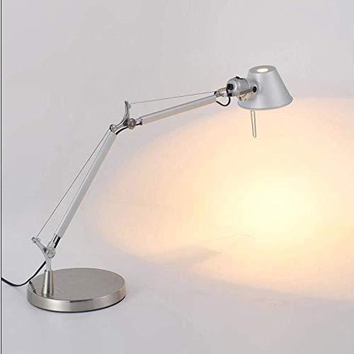 JIAHONG Lámpara de mesa de Lámparas de mesa, Personalidad clásico simple simplicidad lámpara de cabecera, luces de la oficina de estudio y de trabajo a largo brazo plegable lámparas de mesa, American