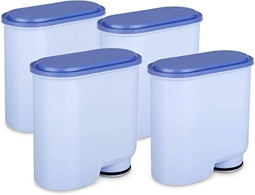 Jisson Kaffeefilter kompatibel mit Philips und Saeco AquaClean, Aktivkohle-Weichmacher Wasserfilter Kalkschutzfilter CA6903 Filter Kompatibel mit CA6903 / 10/00 / 01/22 / 47(4 Stück)