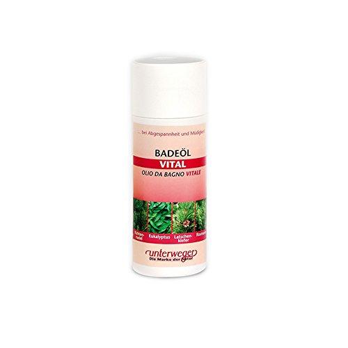 """Cosmétiques naturels""""Unterweger"""" : huile de bain vitale 150 ml à l'aiguille de sapin, eucalyptus, pin de montagne et romarin - pour le sommeil et la f"""