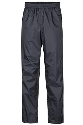 Marmot Herren Hardshell Regenhose, Winddicht, Wasserdicht, Atmungsaktiv PreCip Pant, Black, S, 41550