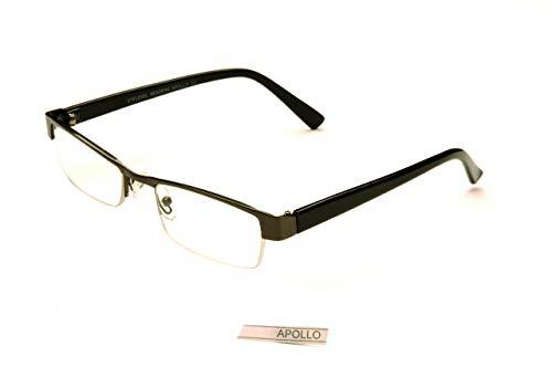 Eyelevel Lesen/Lesebrillen Brille Apollo 1.25 zu + 3.50 - Schwarz, 2.5, 2.5