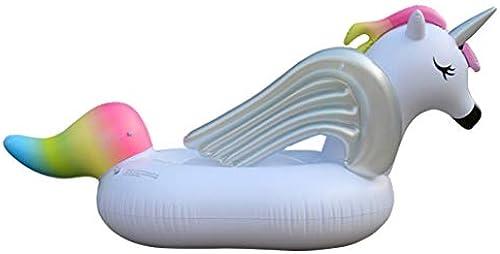 Pool Float PVC Verdicken Kreatives Einhorn Schwimmbad Luftbett Aufblasbare Spielzeuge 275X142X120cm KKY-ENTER
