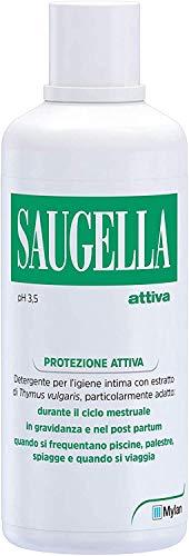 Saugella Protezione Attiva, Detergente Per L'Igiene Intima, A Base Di Thymus Vulgaris - 750 Ml