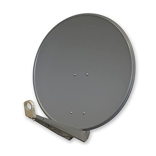 PremiumX DELUXE80 Satellitenschüssel 80 cm Sat Schüssel aus Aluminium in Anthrazit Offset Satelliten Antenne FullHD 3D 4K Ultra HD