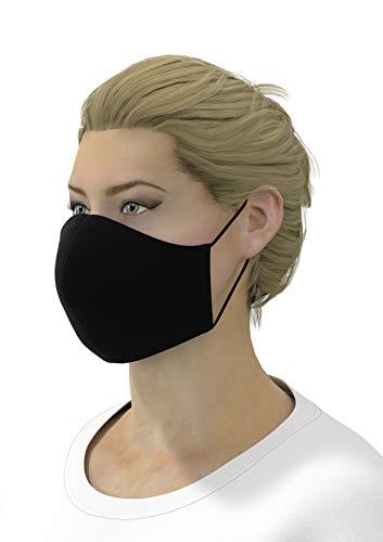 AVANTEX 3er Packung AVANTEX Baumwoll Community Maske, Schwarz