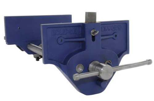 """Eclipse Quick Release Woodworking Vise, Gray Cast Iron, 10"""" Size"""
