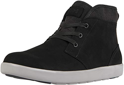 Helly-Hansen Men's Gerton Cold Weather Sneaker, 990 Jet Black/Off White/Charcoal, 10