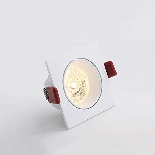 Wlnnes Cuadrado blanco 6W LED empotrada en el techo Luces Ángulo de...