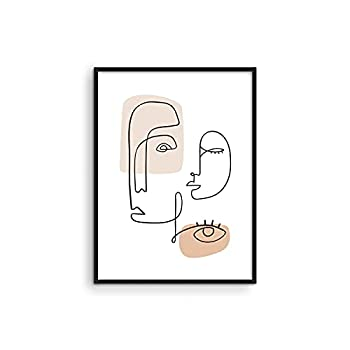 """Minimalist Picture Line Drawing Wall Art - By Haus & Hues 