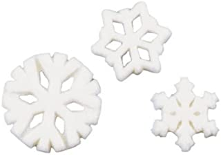 Winter Christmas Snowflake Assortment Sugar Decorations Cookie Cupcake Cake 12 Count