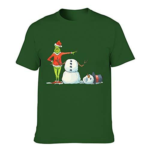 Fun is Bad Christmas Print Men's Short Sleeve Cotton Adult Costume T-Shirt - - XL