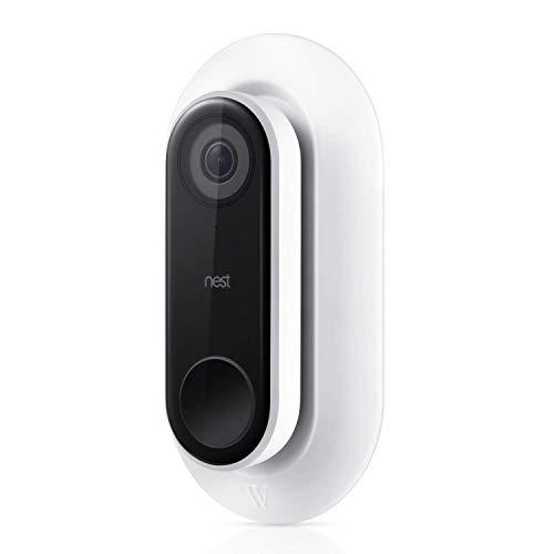 Wetter- und UV-beständige Wandplatte kompatibel mit Nest Hello Video Türklingel - Ein schönes und sauberes Finish für Ihre Nest Türklingel (weiß)