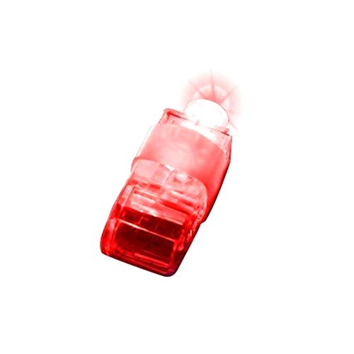 DDG EDMMS Finger beleuchtet helle LED Rave Laser Verschiedene Spielzeug leuchten Ringe LED-Finger-Licht-Partei-Bevorzugungen für Baby-Party Supplies Halloween Licht und Rave-Zubehör-Rot