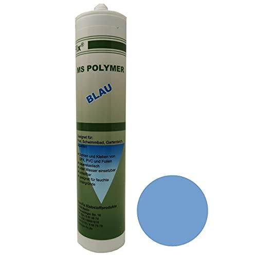 Ber-Fix® MS Polymer Kleber Blau Unterwasserkleber Pool Kleber Unterwasser für PVC GfK EPDM Edelstahl Fliesen Foliekleber besser als Ihr Schwimmbad Silikon