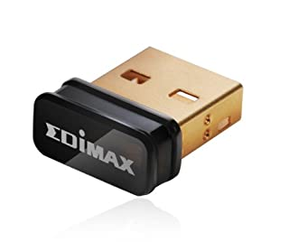 Edimax EW-7811Un 150Mbps 11n Wi-Fi USB Adapter, Nano Size Lets You Plug it and Forget it, Ideal for Raspberry Pi / Pi2, Supports Windows, Mac OS, Linux (Black/Gold) (B003MTTJOY) | Amazon price tracker / tracking, Amazon price history charts, Amazon price watches, Amazon price drop alerts