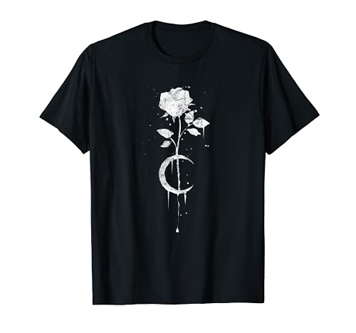 Occult Moon Rose Witchcraft - The Witch Vintage Gothic T-Shirt