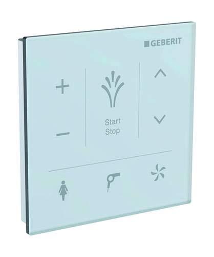Geberit Control Panel Wand, für Geberit AquaClean Mera: Glas Weiß (147.038. Wenn. 1)