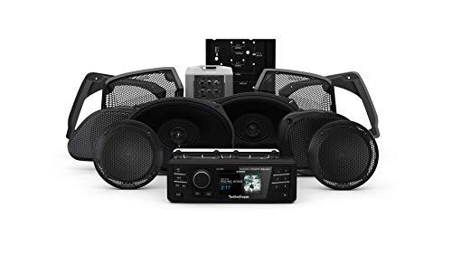 Rockford Fosgate HD9813RGU-STAGE3 Digital Media Receiver, Six Speakers & Amplifier Kit for 1998-2013 Harley-Davidson Road Glide Ultra