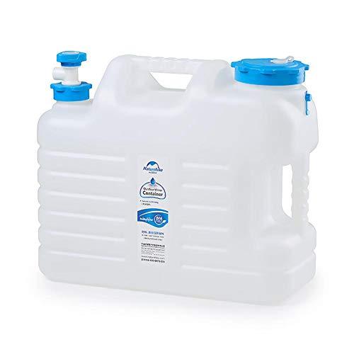 Knowled - Depósito de agua de gran capacidad, dispensador de agua portátil con grifo y tapa, para autoconducción y torre y camping, 24 L