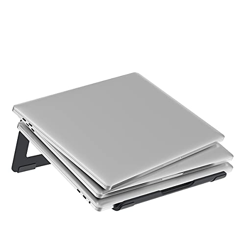JLTX Soporte para Computadora Portátil, Soporte para Computadora Portátil De Escritorio Ventilado Portátil, Soporte De Bandeja Ergonómico Ajustable, Compatible con Computadora Portátil