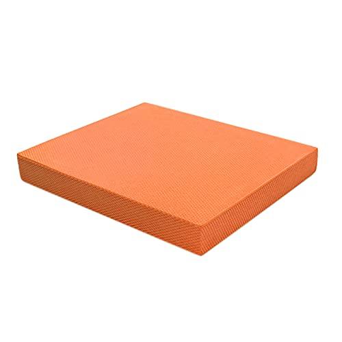 tellaLuna TPE grueso equilibrio Pad soporte plano rehabilitación tobillo entrenamiento Mat para yoga fitness equilibrio entrenamiento naranja