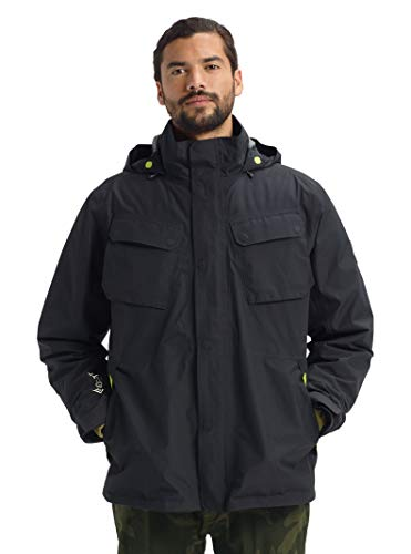 Burton Mens Gore-Tex Edgecomb 3 in 1 Jacket, True Black, Large