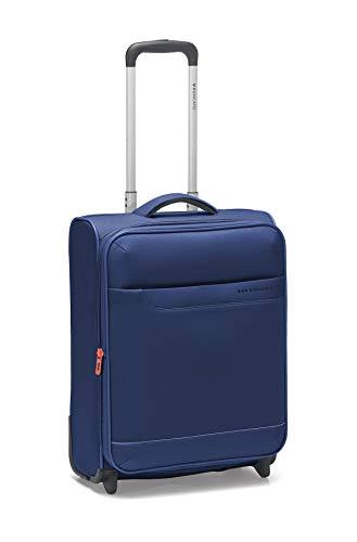 Roncato Hydra trolley bagaglio a mano espandibile blu, perfetto per voli low cost, Misura: 55 x 40 x 20/23 cm, 39/45 Litri, 2.4 Kg, 2 ruote