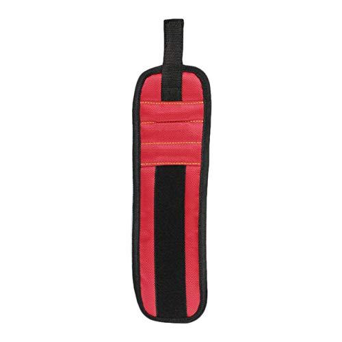 SZXCX Kit de Pulsera magnética magnética de Tres Filas 2 Piezas incorporadas Imanes súper potentes Imanes Fuertes para Sujetar 1 Pieza - Rojo