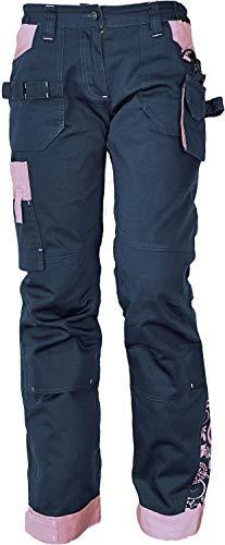 DINOZAVR Yowie Pantalón de Trabajo Elástico Cargo para Mujer - Azul Oscuro/Violeta 34