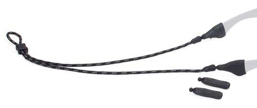 Croakies Terra System Adjustable Eyewear Retainer Combo, XL/XXL Terra Ends, Black/Grey