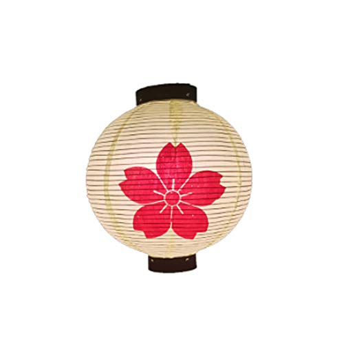 TONGTONG Linterna colgante tradicional hecha a mano de estilo japonés de 12 pulgadas (pantalla de lámpara) para hotel, sushi bar, restaurante decoraciones suministros #16