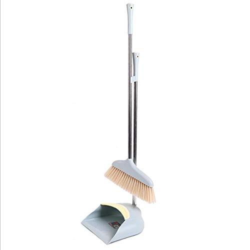 FTFDTMY Acero Inoxidable Conjunto Escoba Polo, Suave Mango del Cepillo De Plástico Se Siente Cómodo Y Duradero para La Limpieza De Suelos Casa,a