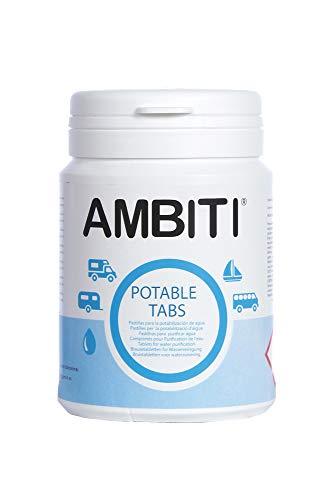 Ambiti Potable Tabs, Pastillas Potabilizadoras de Agua, bote 50 unidades.