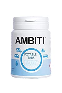 Ambtiti Potable Tabs, Pastillas Potabilizadoras de Agua, bote 50 unidades.