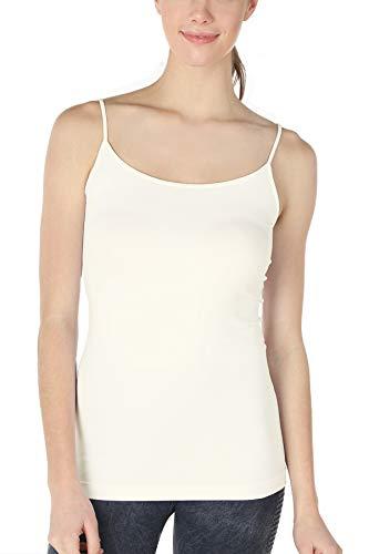 NIKIBIKI Women Seamless Premium Classic Camisole, Made in U.S.A, One Size (Ivory)
