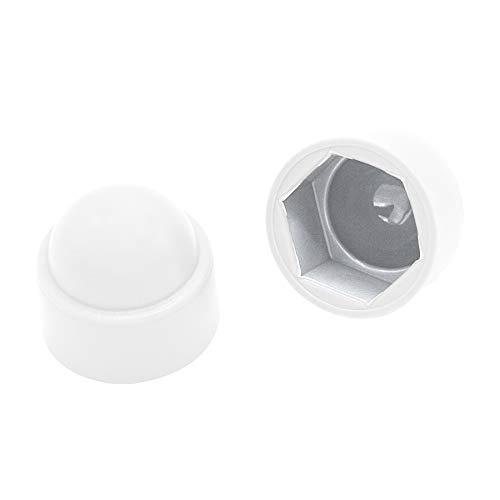 Schutzkappen für Schrauben M12 (für Schlüssel 19) Stopfen Rohrkappen schraubenkappen Weiß| 10 Stück |