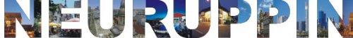 PEMA INDIGOS UG - Wandtattoo Wandsticker Wandaufkleber - Aufkleber farbige Wandschrift Städtename Städtename Neuruppin mit Sehenswürdigkeiten 180 x 20 cm Länge