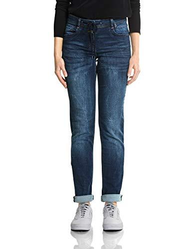 Cecil Damen Scarlett Jeans, Mid Blue Wash 10282, 30W / 32L