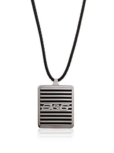 Dolce & Gabbana Dolce&Gabbana DJ0705 - Collar de Hombre de Acero Inoxidable, 60 cm