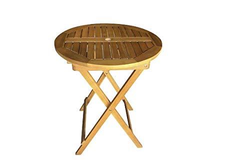 Aktive 61028 - Tavolo rotondo pieghevole in legno di acacia D60 cm Garden