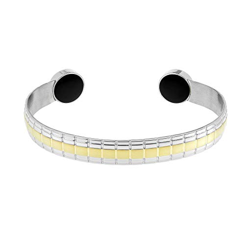 Lux Two Tone Magnetic Bangle, Large 180-215mm