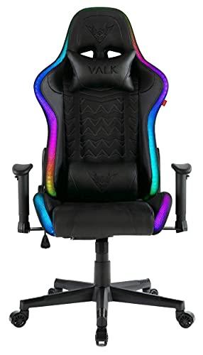 VALK Skadi - Silla Gaming con Luces LED RGB, Reclinable 160º, Reposabrazos 2D, Silla Gamer Escritorio y Oficina,...