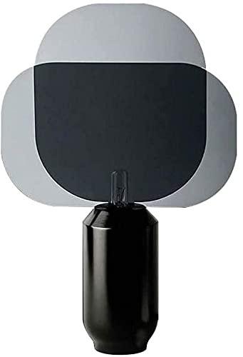 JAOSY Nórdico moderno minimalista hierro forjado metal negro sala de estar lámpara de mesa dormitorio creativo mesita de noche escritorio lámpara de escritorio diámetro 35 cm alto 60 cm interruptor de