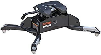 CURT 16044 A20 5th Wheel Hitch, 20,000 lbs, Select Ram 2500, 3500, 8-Foot Bed Puck System